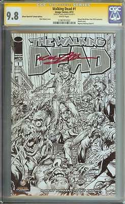 Wizard World New York Walking Dead #1 Cgc 9.8 White Pages Sketch Id: 4141