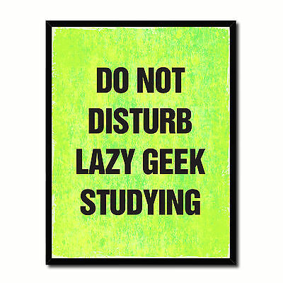 Do Not Disturb Lazy Geek Studying Funny Typo Sign 17011 Picture Frame Gifts Home