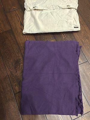 Janavi 100% Cashmere Hand Crafted Purple Throw/blanket. Ultra Luxurious.