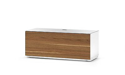 Sonorous Studio St-110b Wood And Glass Tv Stand With Hidden Wheels