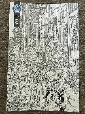 Clone 1 Skybound 5th Anniversary Sdcc Box Set B&w Sketch Exclusive