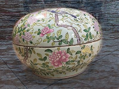 Old Chinese Porcelain Colored Drawing Pattern Big Bowl