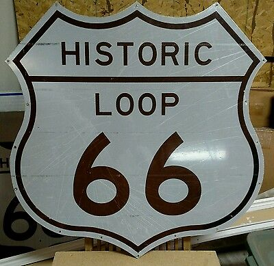 """Historic Us Route 66 Shield Sign Mother Road 36""""x 36"""""""
