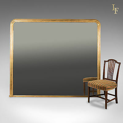 Very Large Overmantel Mirror, Late C20th In Regency Taste, English, Wall
