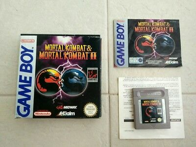 Mortal Kombat I & Ii Game Boy Original - Rare!!