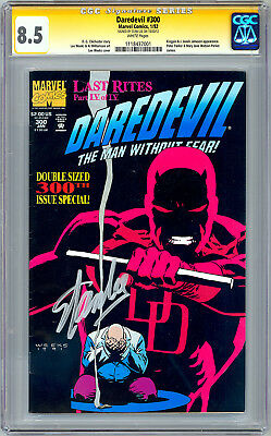 Daredevil #300 Cgc-ss 8.5 Signed By Daredevil Creator Stan Lee Anniv Issue 1992