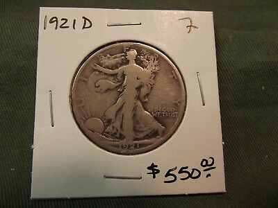 1921d F Silver Walking Liberty Half Dollar, See Our Store, 1921-d