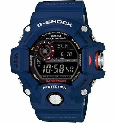 Casio G-shock Gw9400nv-2cr Master Of G Color-themed Navy Series