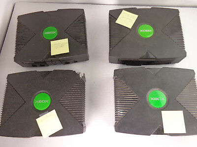 Lot Of 4 Original Microsoft Xbox Consoles Systems Sold As Is, For Parts/repair