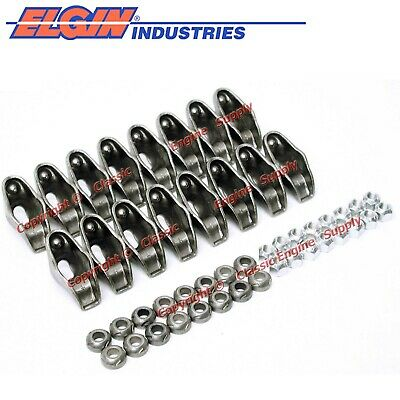New 1.5 & 1.6 Ratio Long Slot Rocker Arm Set 1955-86 Sb Chevy 400 350 327 305