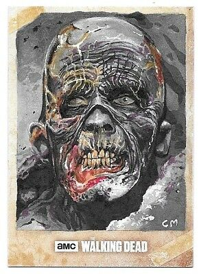 2017 Topps Walking Dead Season 6 Walker Sketch Card By Chris Meeks #1/1