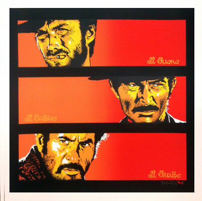 the good the bad the ugly by bill perkins  sundown edition 24x24in  not mondo