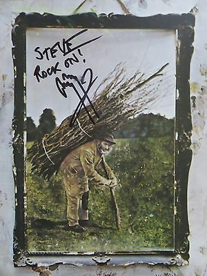 jimmy page signed led zeppelin iv record / album steve psa stairway heaven