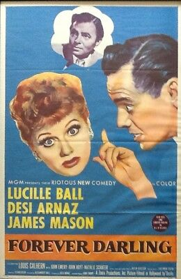 """Lucille Ball And Desi Arnaz - """"forever Darling"""" Movie Poster"""