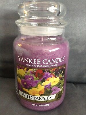 Yankee Candle Wild Pansies 22 Oz Jar Candle - Super Rare - Brand New