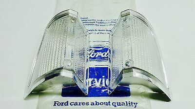 Tc Mk3 Cortina Genuine Ford Nos Pair Of Chrome Edged Clear Front Flasher Lenses