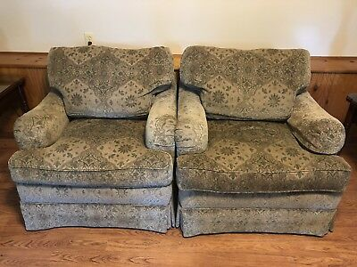 2 Henredon Custom Folio Collection Club/lounge Chairs Down Features