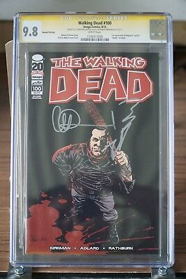 The Walking Dead 100 Negan Cover, Signed By Robert Kirkman And Charlie Adlard