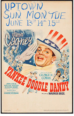 "Poster Yankee Doodle Dandy 1942 Window Card 22""x28"" Vf-7 James Cagney"