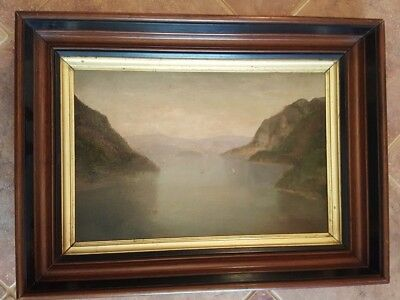 19th Century Oil On Board - Hudson School View Of West Point - Unsigned