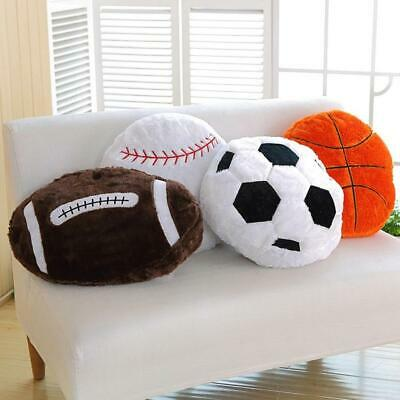 Creative Plush Back Cushion Football Basketball Soccer Design Sofa Throw Pillow