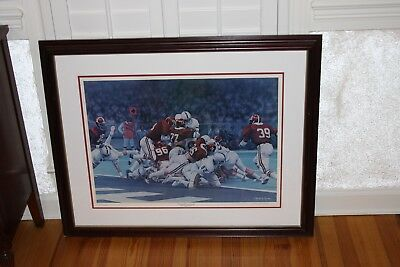 """the Goal Line Stand"" By Daniel Moore 1979 Sugar Bowl Original Lithograph"
