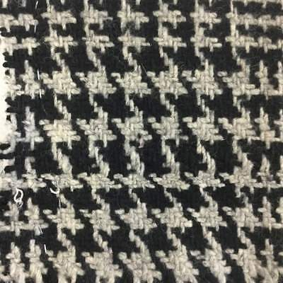Gray And Black Prince Of Whales Plaid Wool Fabric | 80/20 | 22oz