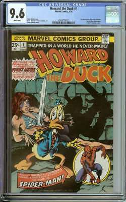 Howard The Duck #1 Cgc 9.6 White Pages Id: 20105