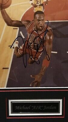 "Michael Jordan ""slam"" 8x10 Photo Authentic Autograph Certified By Psa/dna Auto"