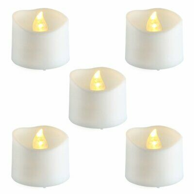Flameless Candles Flickering Votive Fake Candles Led Battery Tea Lights No Flame