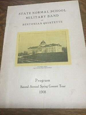 1908 State Normal School Military Band Program Cape Girardeau Spring Concert