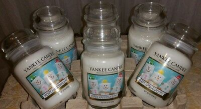 Yankee Candle~set Of 6 Jar Candle~merry Marshmallow~22 Oz~new~
