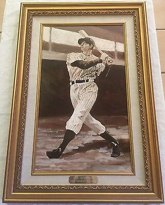 "Joe Dimaggio ""the Yankee Clipper"" Original Oil Painting Framed 96 By Nancy White"