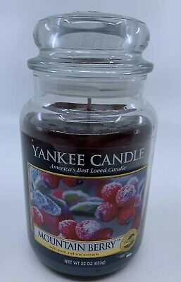 Yankee Candle Mountain Berry - Large 22oz. Jar - Rare Scent - New Old Stock