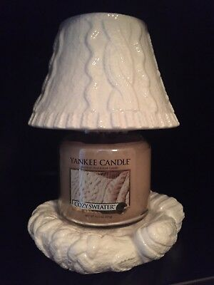 Yankee Candle Cozy Mitten Holder, Shade & Cozy Sweater Candle - Retired & Htf