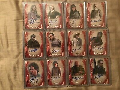 2016 Topps The Walking Dead Survival Box Autograph Card Lot Of 16 Cards See Pics