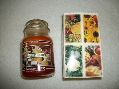 Yankee Candle Gingerbread Black Band Jar Candle 22 Oz New Rare Htf