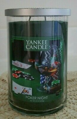 Yankee Candle~poker Night 22 Oz  Very Hard To Find~~retired~~buy More Save More