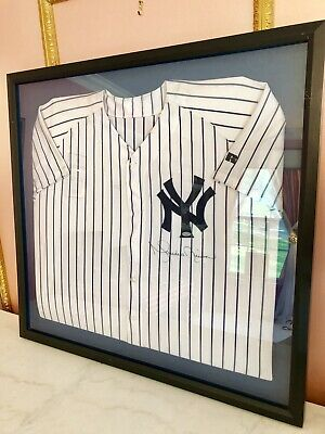 Mariano Rivera Signed & Inscribed Authentic Home Yankee Framed Jersey