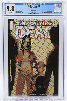 Walking Dead # 34 2nd Printing Cgc 9.8 Back Cover Pinup By Cliff Rathburn