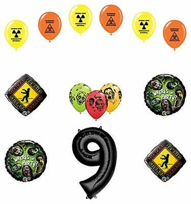 Mayflower Products Zombies 9th Birthday Party Supplies Walking Dead Balloon B...