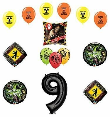 Mayflower Products Zombies Party Supplies 9th Birthday The Walking Dead Ballo...