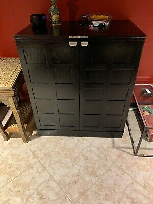 Crate & Barrel Steamer Bar Cabinet (local Pickup Only)