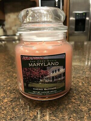 """Rare Yankee Candle State Series Maryland ~cherry Blossom 14.5oz """"the Free State"""""""