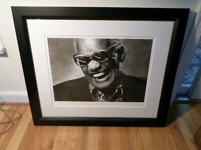 Ray Charles Photograph Signed Norman Seef, Los Angeles, 1985