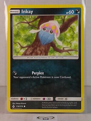 Inkay  118/214   S&M: Unbroken Bonds Common Mint/NM Pokemon