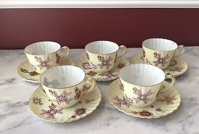 rare antique chinese export thin porcelain hand painted tea cups