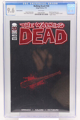 Walking Dead # 100 Red Foil Edition Cgc 9.6 Red Foil Logo Black Cover