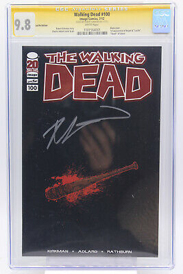 Walking Dead # 100 Lucille Edition Cgc 9.8 Black Cover Signed By Robert Kirkman