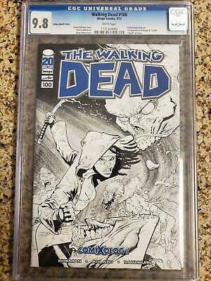The Walking Dead #100 Ottley Sketch Comixology Variant Cover 2012 Comic Cgc 9.8